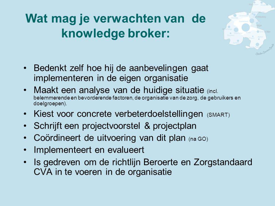 Wat mag je verwachten van de knowledge broker: