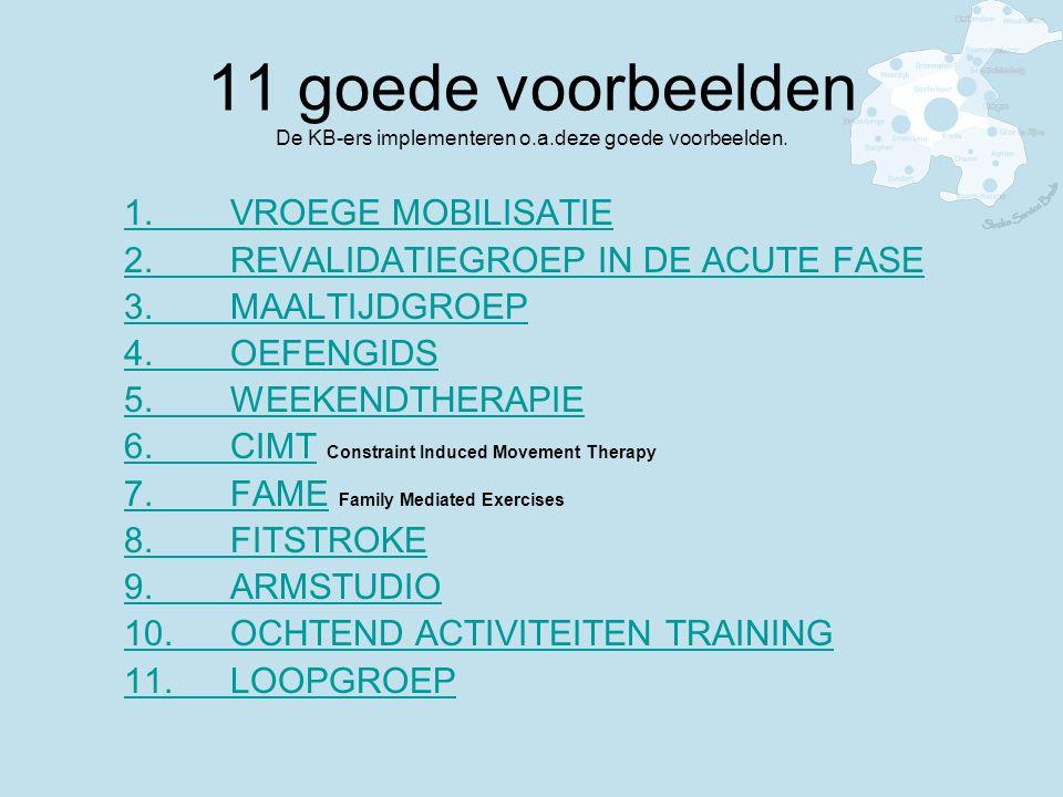 11 goede voorbeelden De KB-ers implementeren o. a