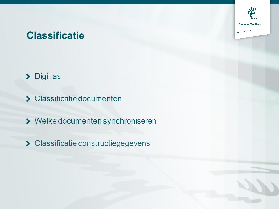 Classificatie Digi- as Classificatie documenten
