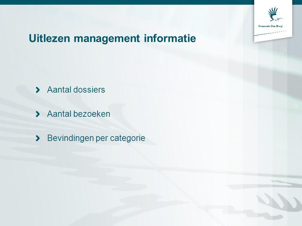 Uitlezen management informatie