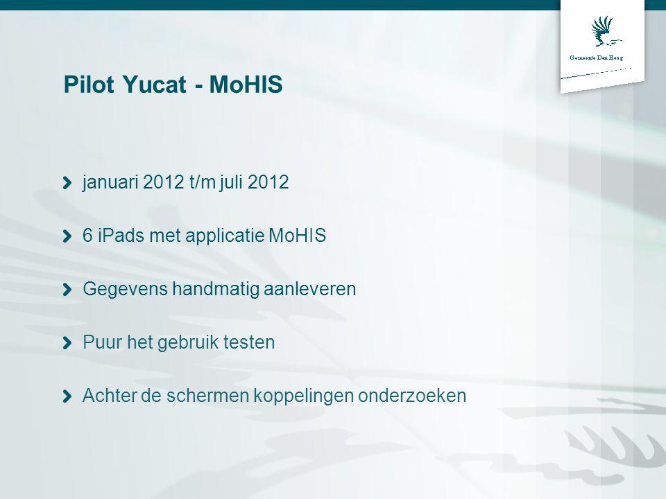 Pilot Yucat - MoHIS januari 2012 t/m juli 2012