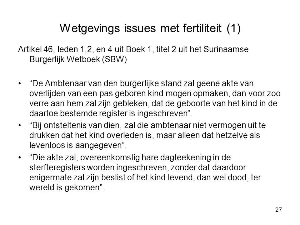 Wetgevings issues met fertiliteit (1)