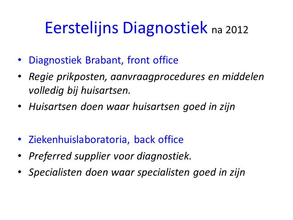 Eerstelijns Diagnostiek na 2012