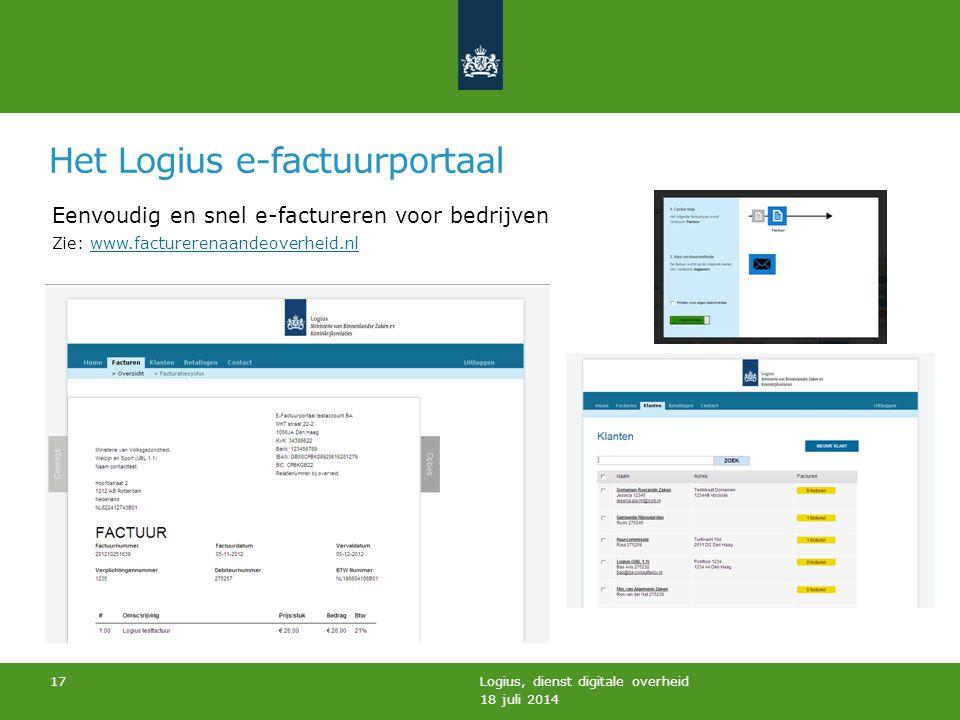 Het Logius e-factuurportaal