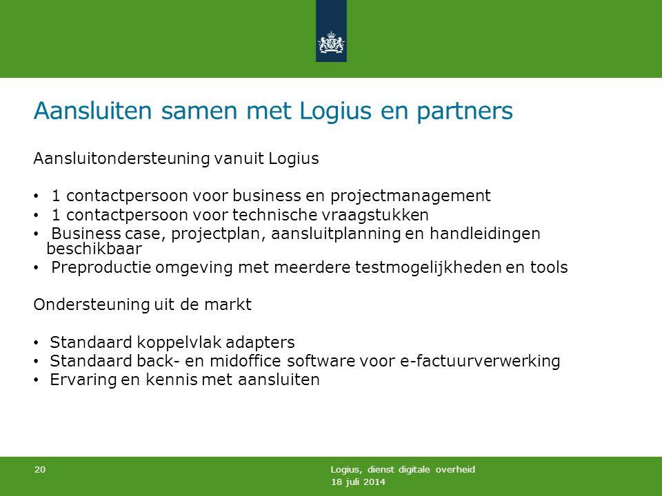 Aansluiten samen met Logius en partners