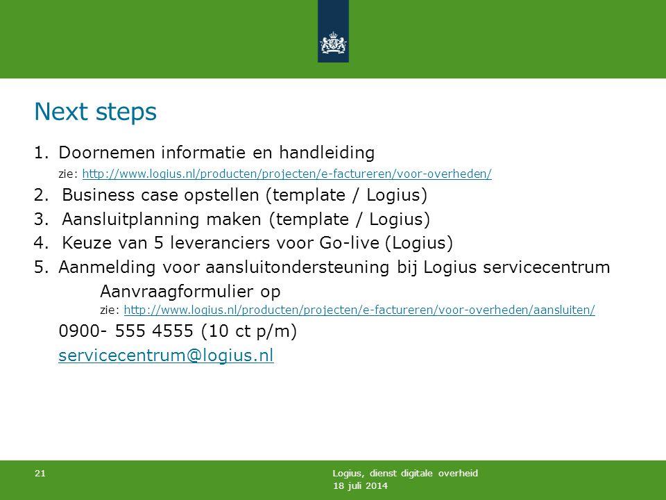 Next steps Doornemen informatie en handleiding