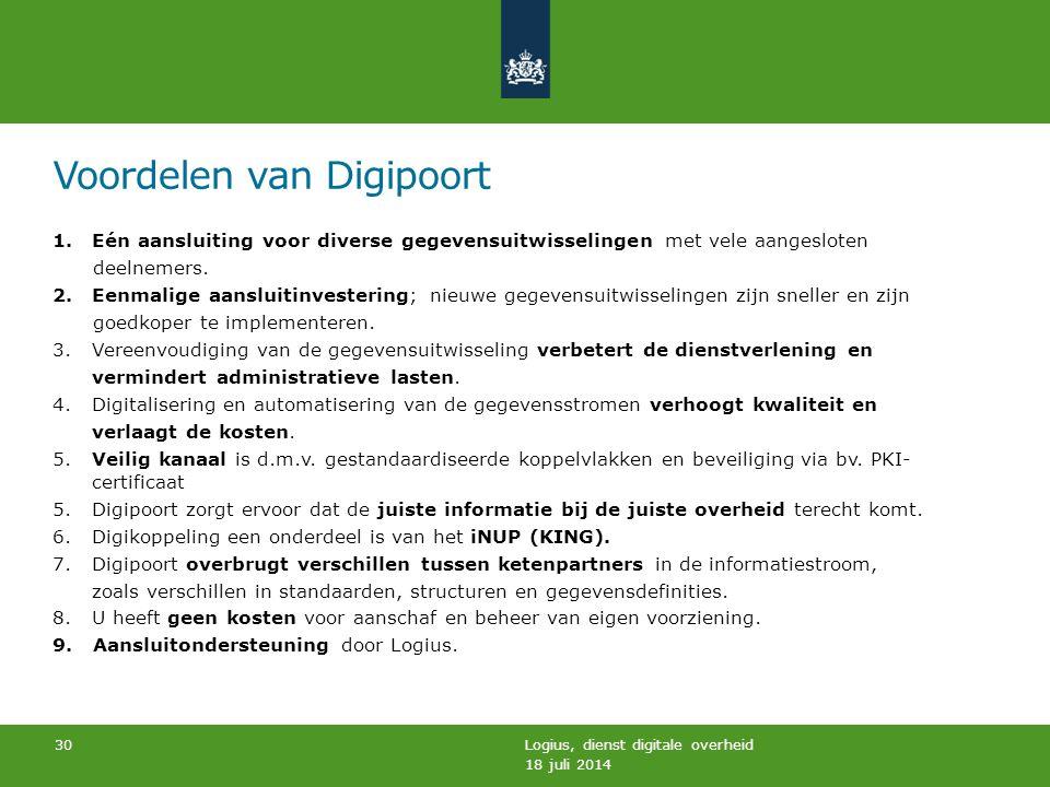 Voordelen van Digipoort