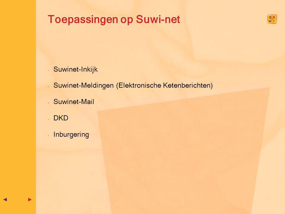Toepassingen op Suwi-net