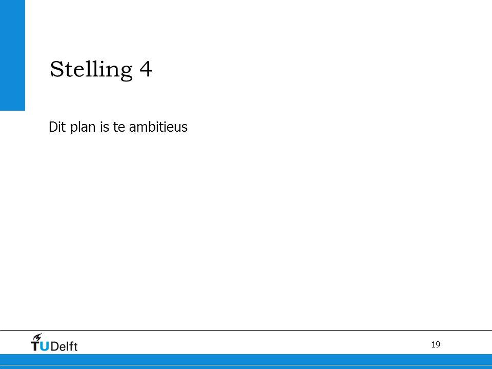Stelling 4 Dit plan is te ambitieus