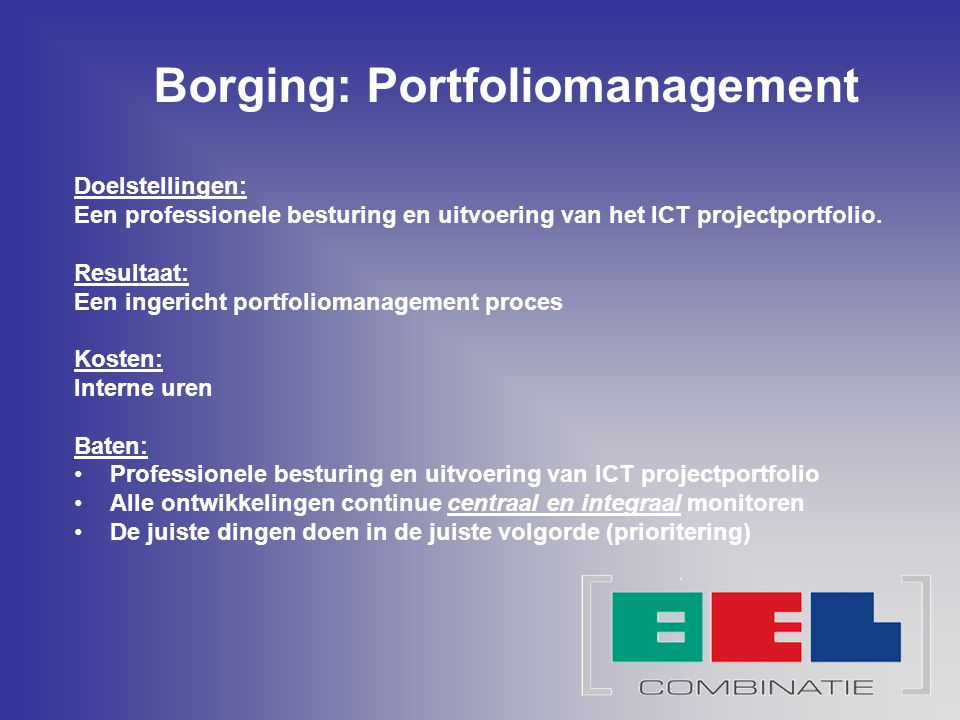 Borging: Portfoliomanagement