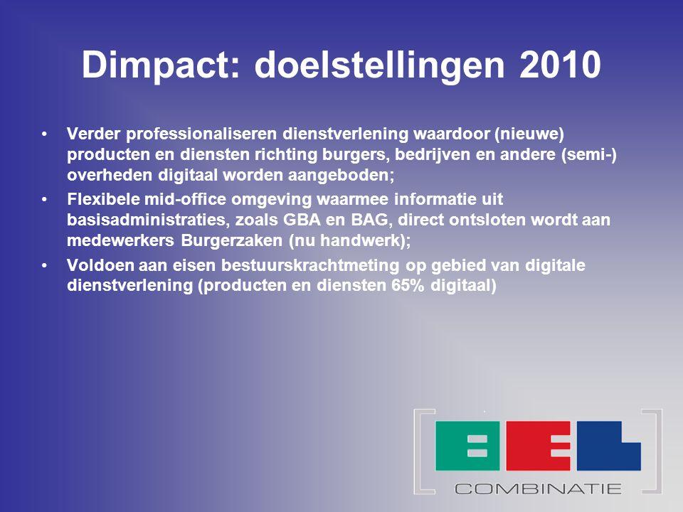 Dimpact: doelstellingen 2010