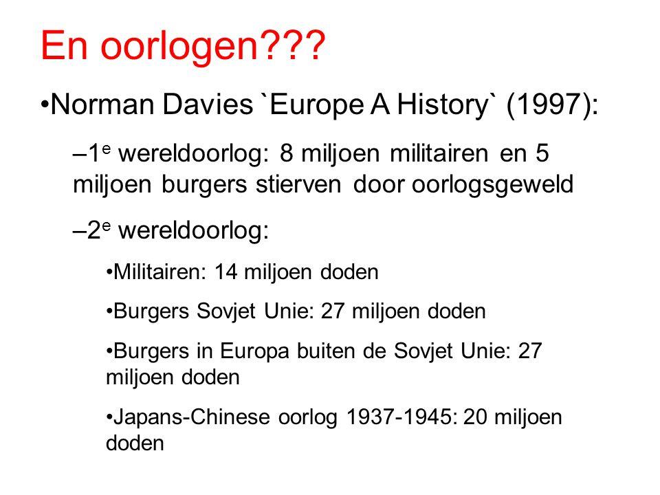 En oorlogen Norman Davies `Europe A History` (1997):