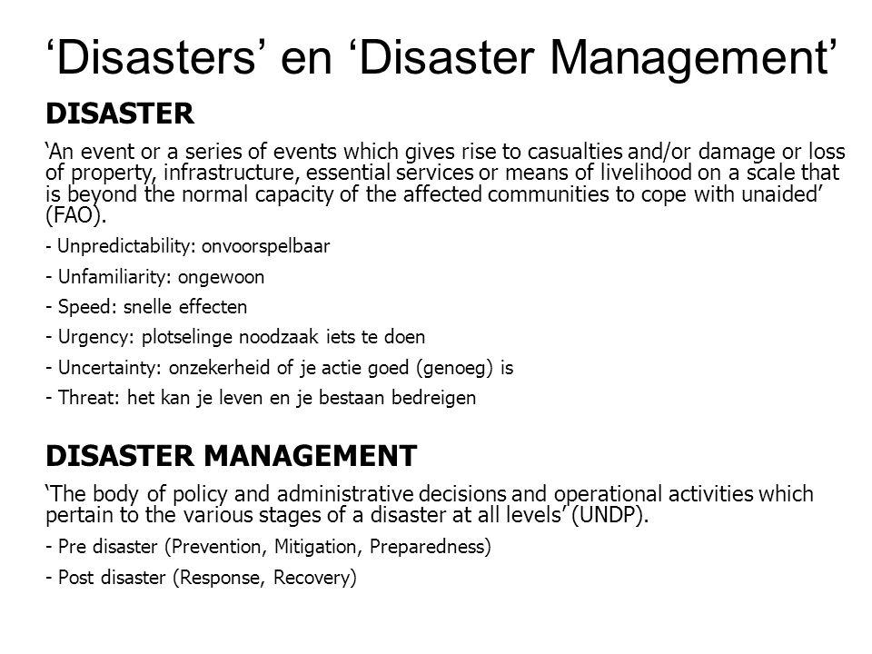 'Disasters' en 'Disaster Management'
