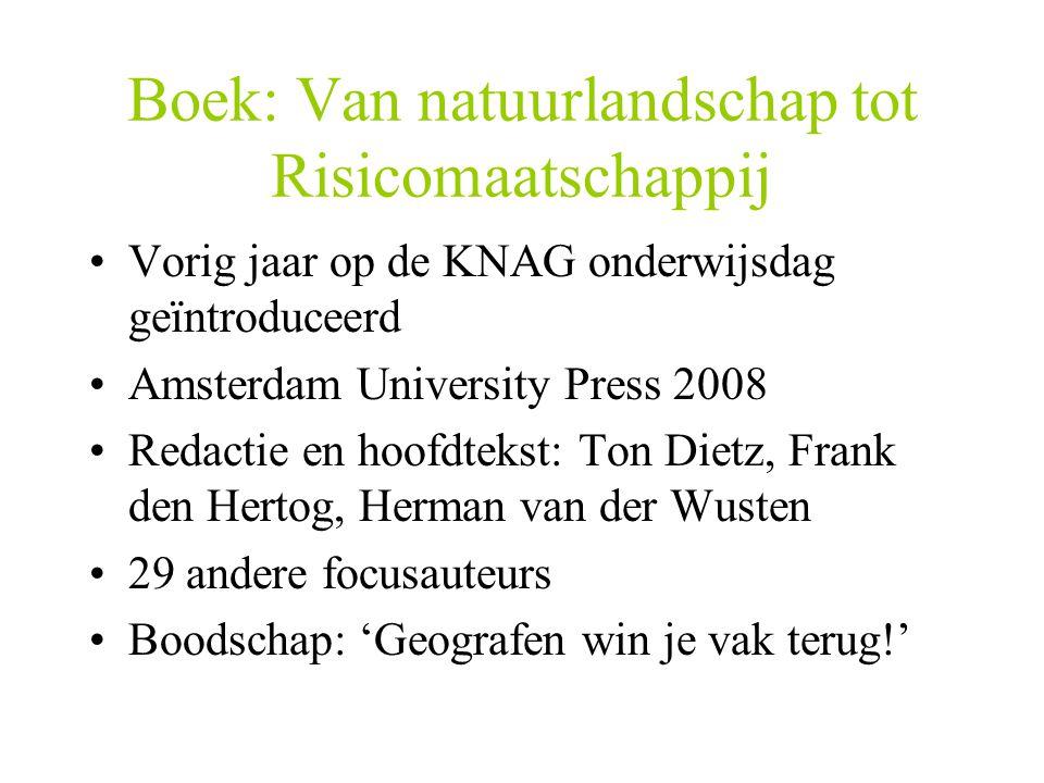 Boek: Van natuurlandschap tot Risicomaatschappij
