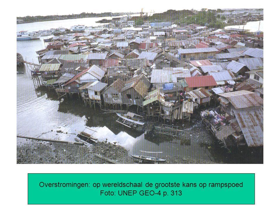 Overstromingen: op wereldschaal de grootste kans op rampspoed