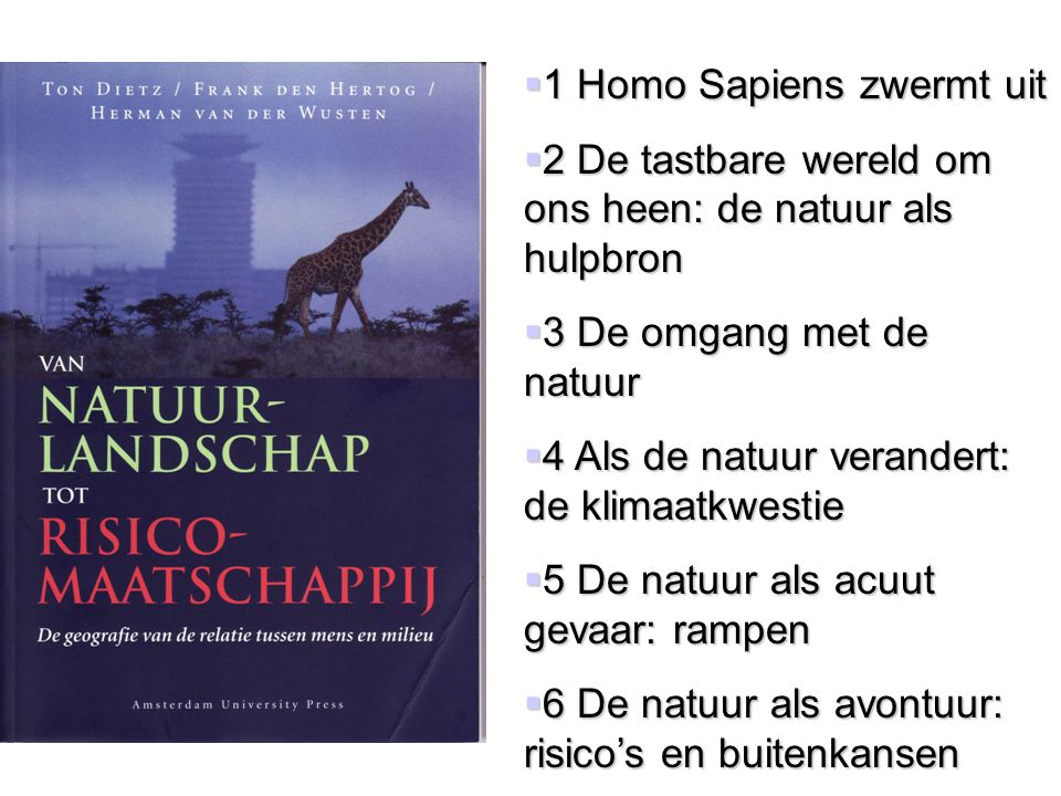 1 Homo Sapiens zwermt uit
