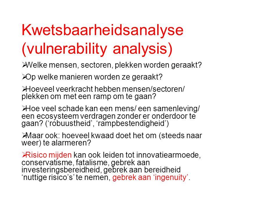 Kwetsbaarheidsanalyse (vulnerability analysis)