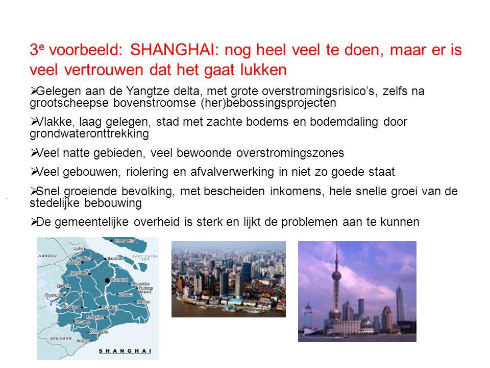 3e voorbeeld: SHANGHAI: nog heel veel te doen, maar er is veel vertrouwen dat het gaat lukken