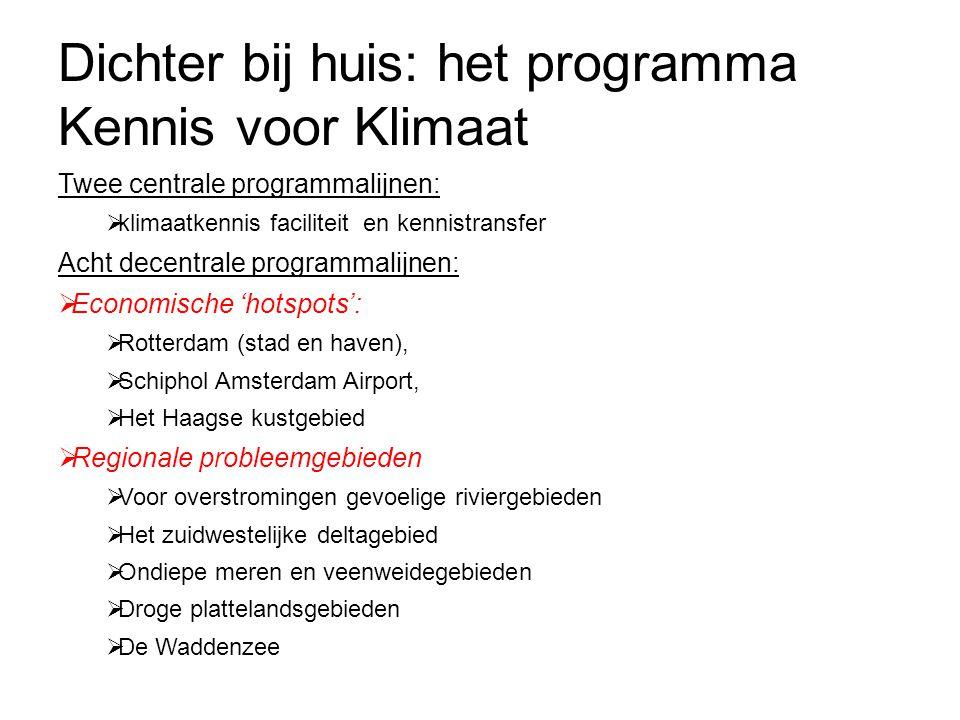 Dichter bij huis: het programma Kennis voor Klimaat