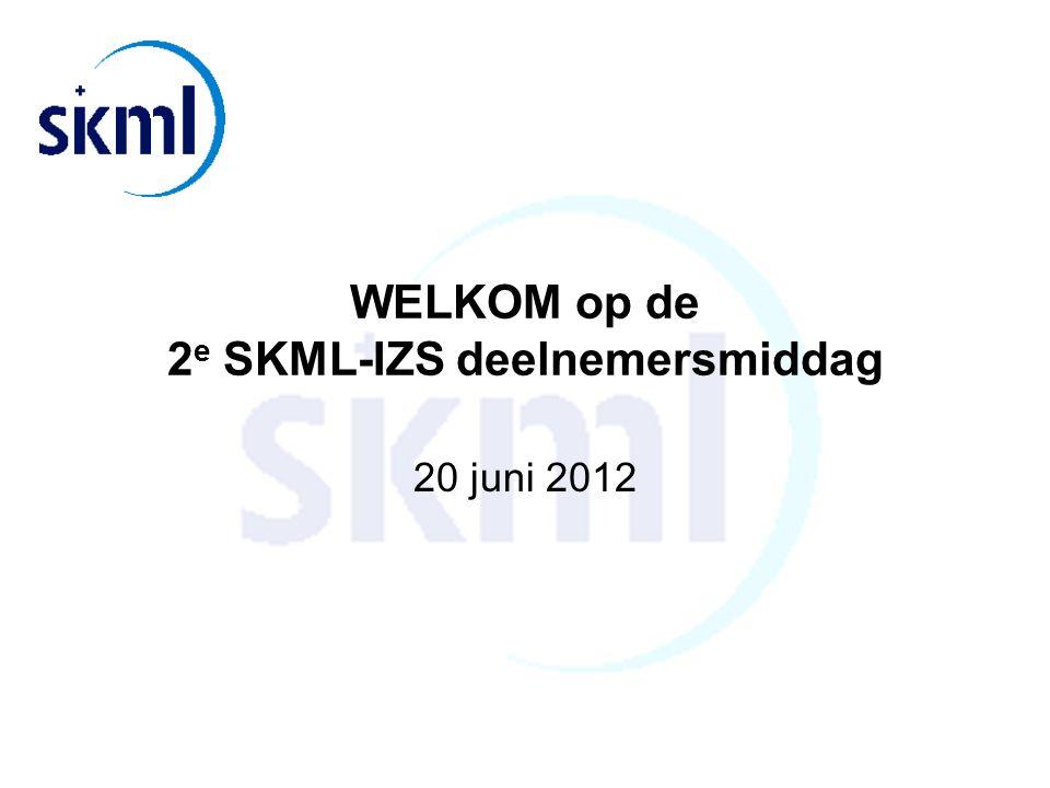 WELKOM op de 2e SKML-IZS deelnemersmiddag