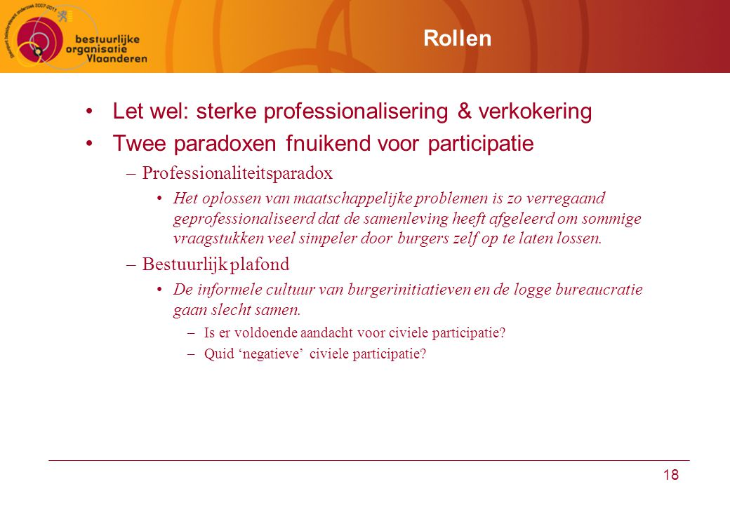 Let wel: sterke professionalisering & verkokering