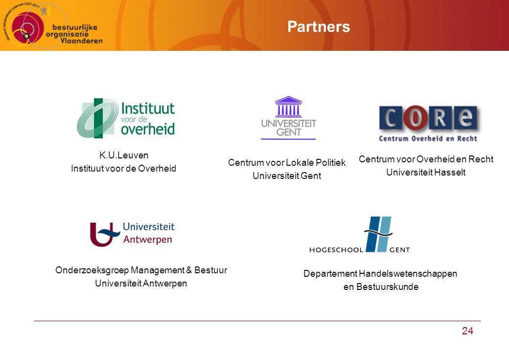 Partners K.U.Leuven Instituut voor de Overheid