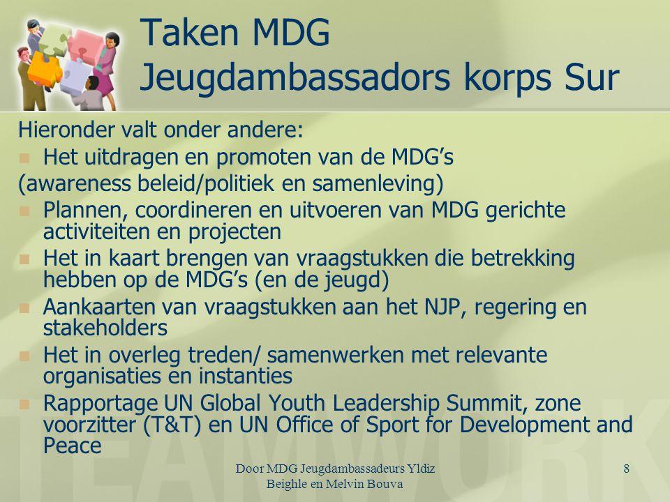 Taken MDG Jeugdambassadors korps Sur
