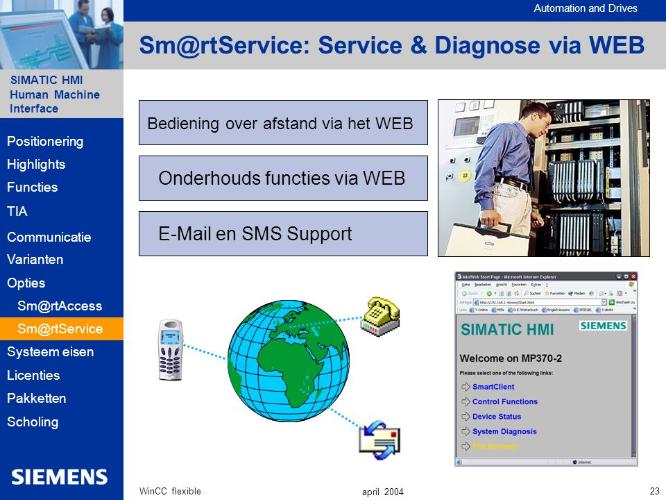 Sm@rtService: Service & Diagnose via WEB