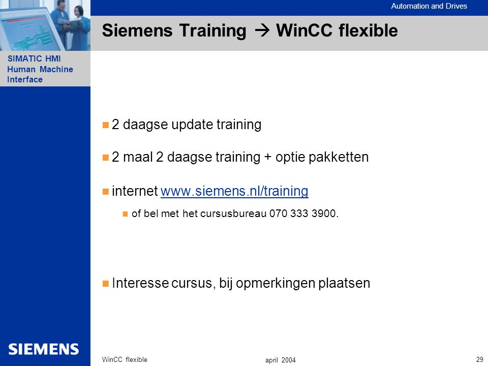 Siemens Training  WinCC flexible