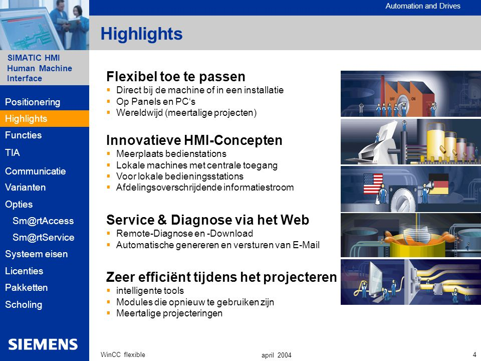 Highlights Flexibel toe te passen Innovatieve HMI-Concepten