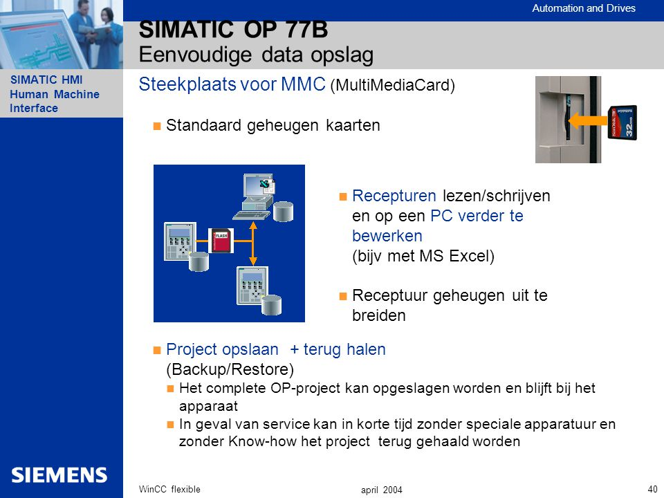 SIMATIC OP 77B Eenvoudige data opslag