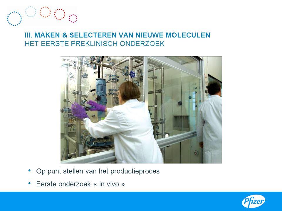 Op punt stellen van het productieproces Eerste onderzoek « in vivo »