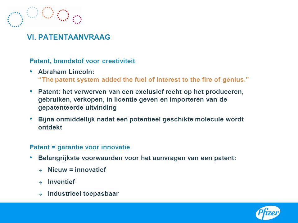 VI. PATENTAANVRAAG Patent, brandstof voor creativiteit