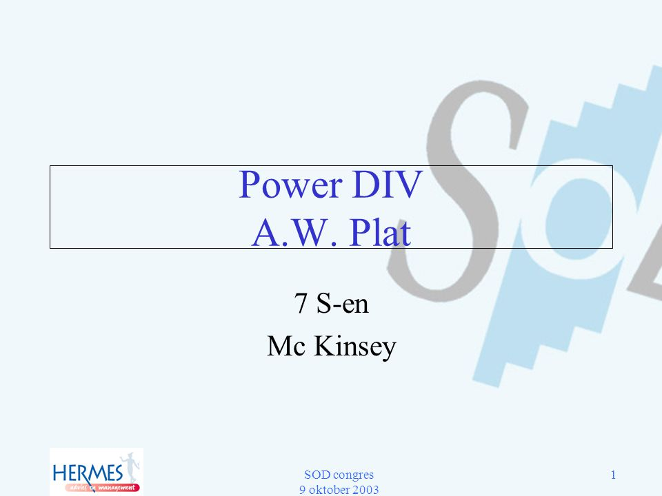 Power DIV A.W. Plat 7 S-en Mc Kinsey