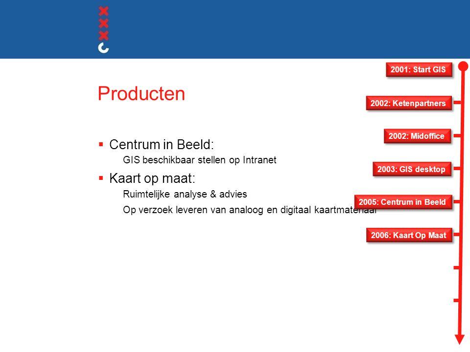 Producten Centrum in Beeld: Kaart op maat: