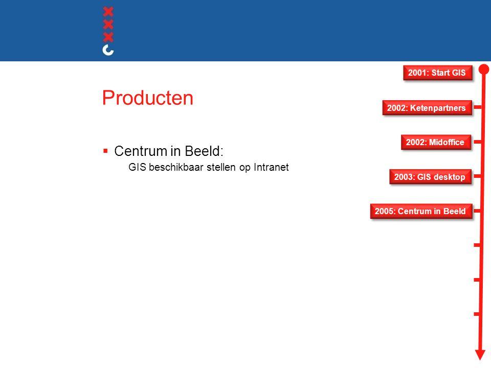 Producten Centrum in Beeld: GIS beschikbaar stellen op Intranet