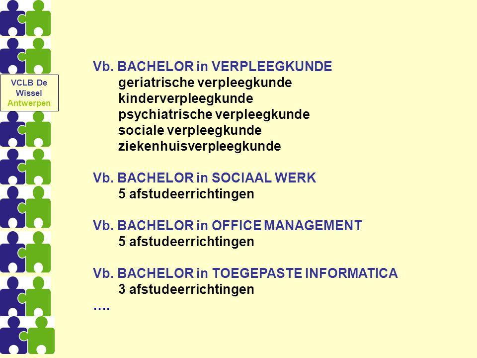 Vb. BACHELOR in VERPLEEGKUNDE geriatrische verpleegkunde