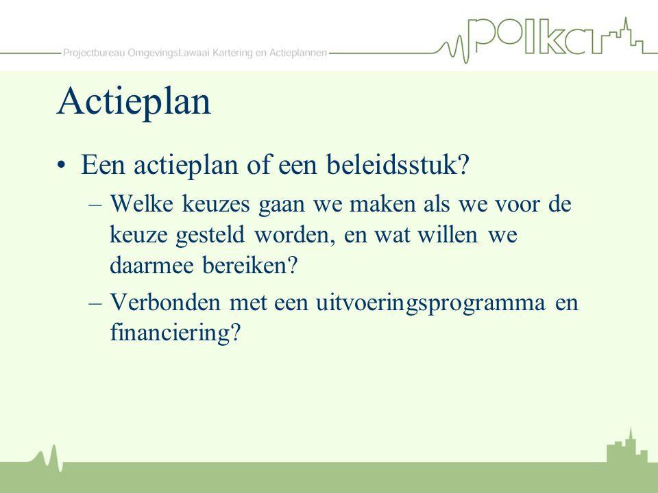 Actieplan Een actieplan of een beleidsstuk
