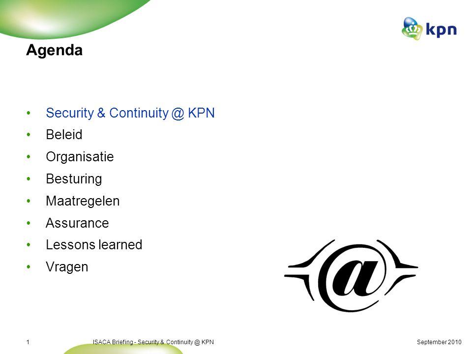 Security & Continuity @ KPN