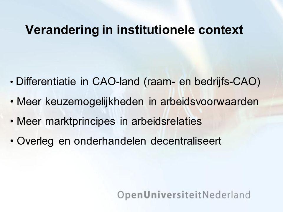 Verandering in institutionele context