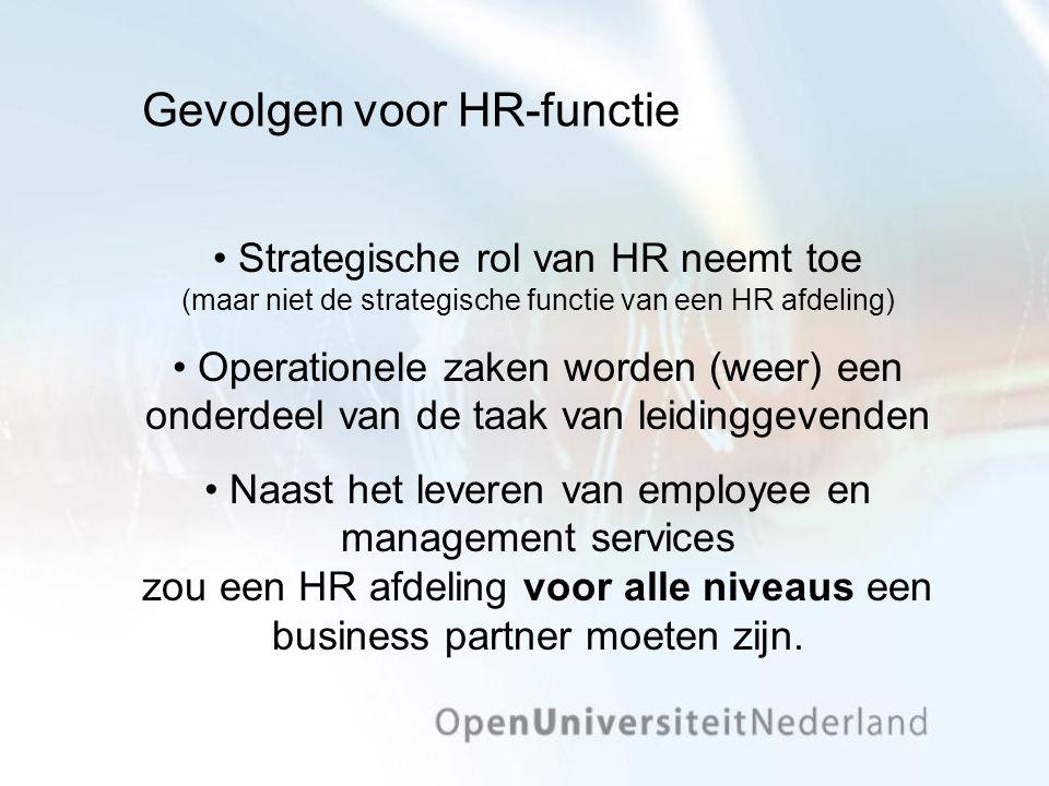 Gevolgen voor HR-functie