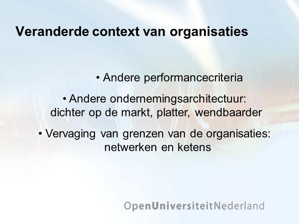 Veranderde context van organisaties