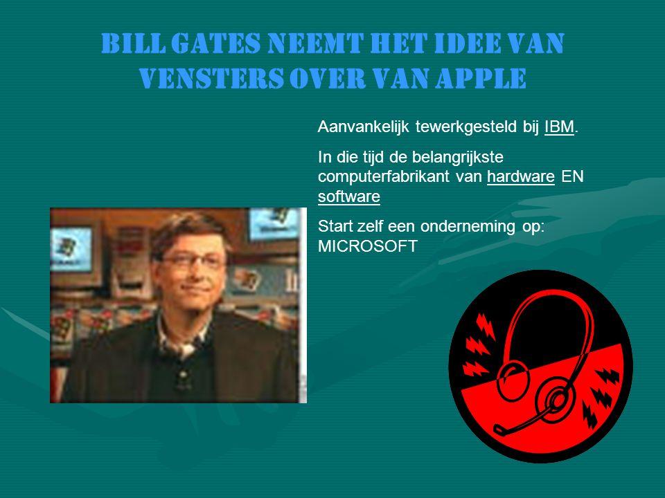 Bill Gates neemt het idee van vensters over van apple