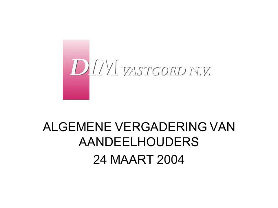 ALGEMENE VERGADERING VAN AANDEELHOUDERS 24 MAART 2004