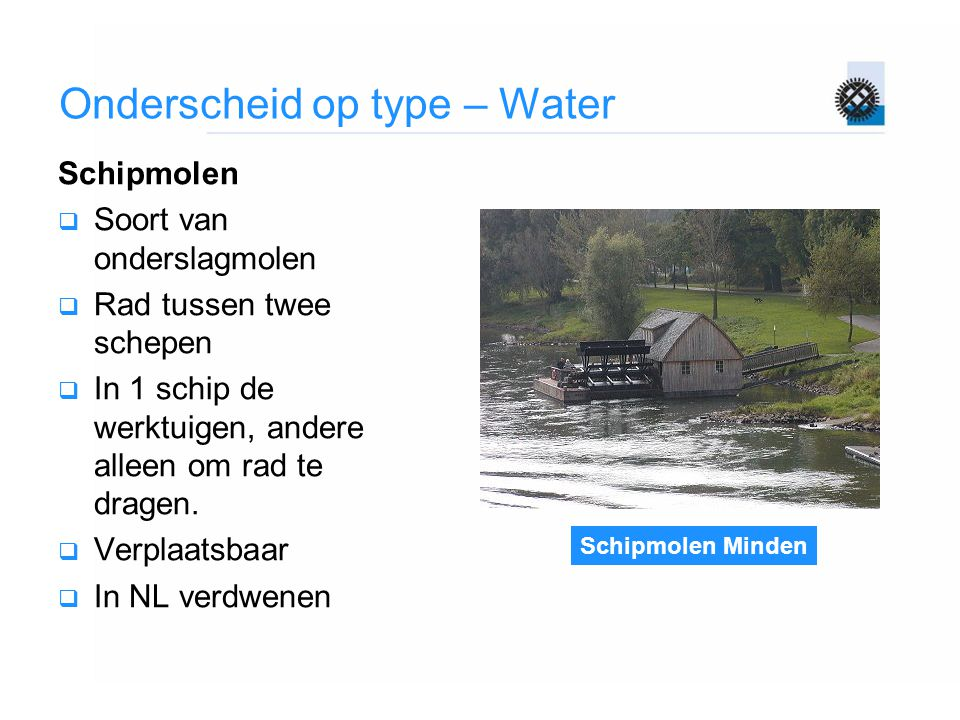 Onderscheid op type – Water