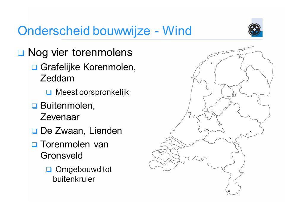 Onderscheid bouwwijze - Wind