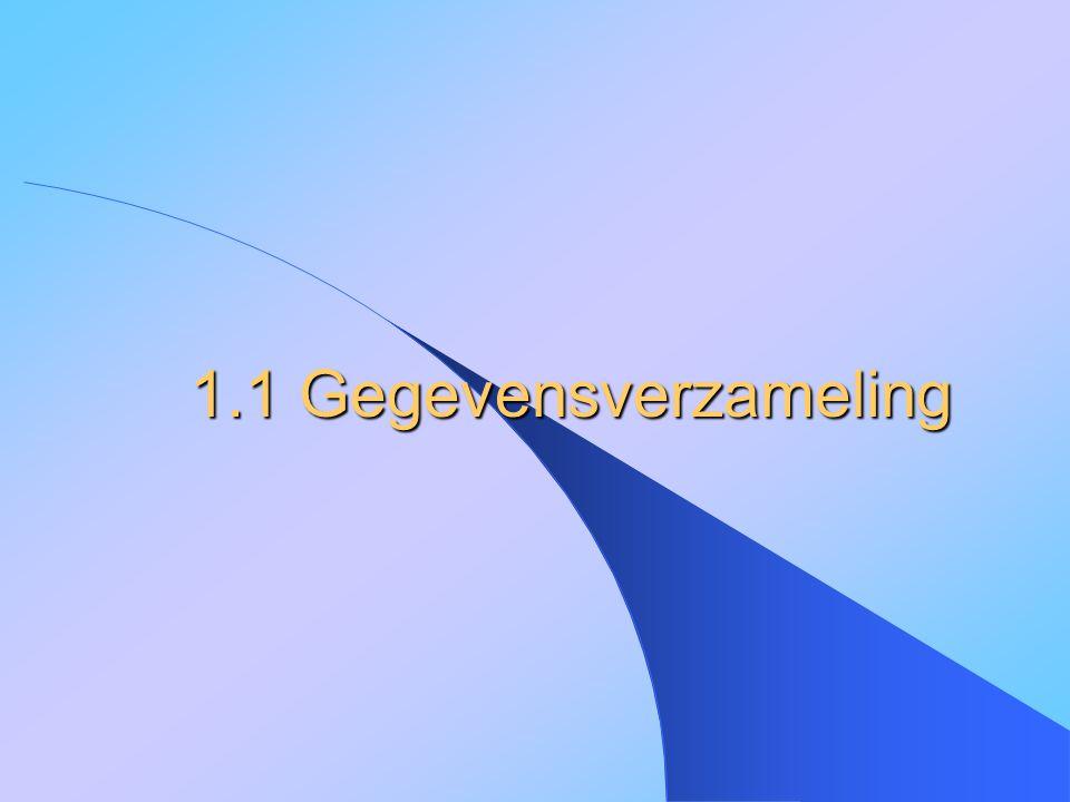 1.1 Gegevensverzameling