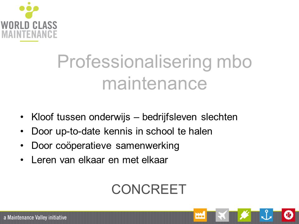 Professionalisering mbo maintenance
