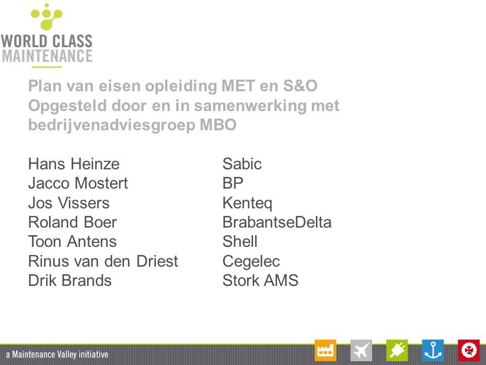 Plan van eisen opleiding MET en S&O