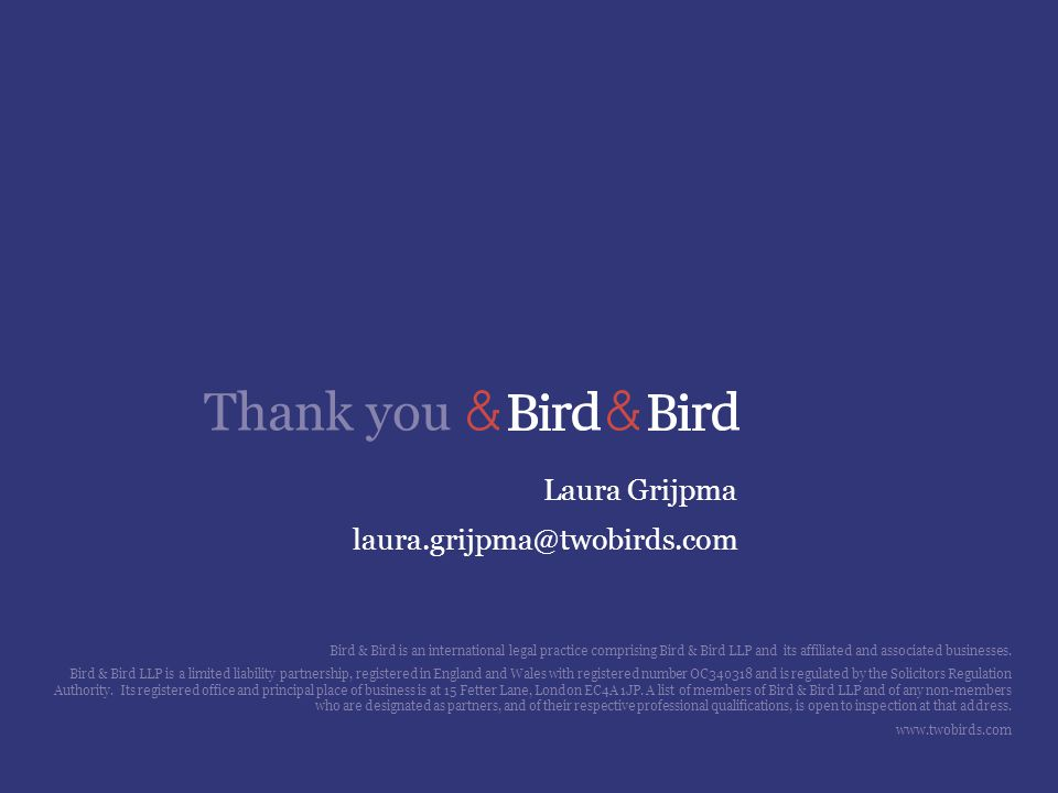 Laura Grijpma laura.grijpma@twobirds.com